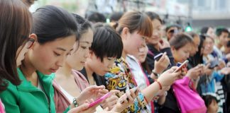 Çin mobil istifadəçiləri